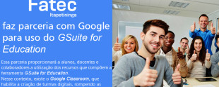 Fatec Itapetininga participa do programa GSuite for Education da Google